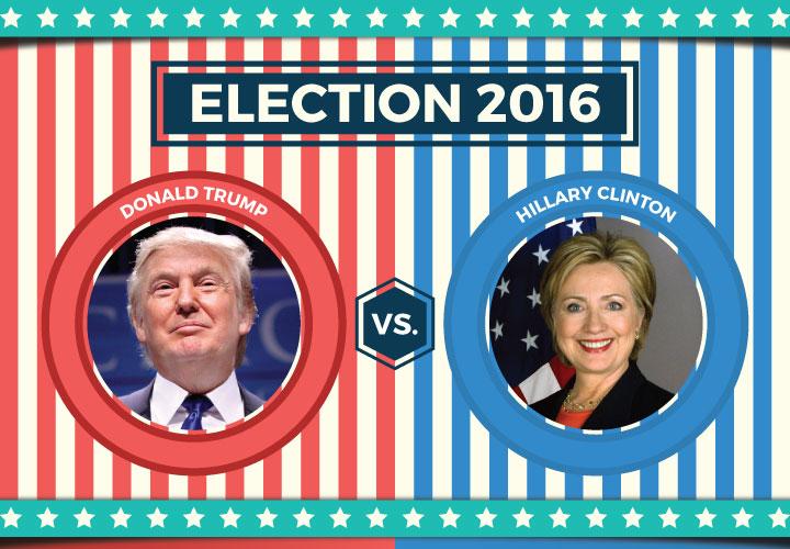 De spannende race van de Amerikaanse verkiezingen 2016